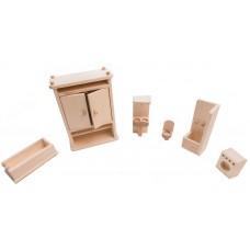 Mobilier din lemn pentru baie/toaleta pentru papusi (BCD011)