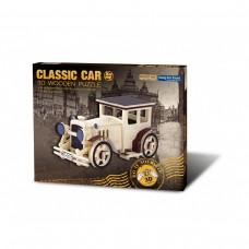 Masina clasica. Puzzle 3D din lemn (BCD178)