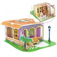 Casa puzzle 3D din lemn. Biblioteca (BCD199)