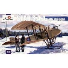SPAD S.A.4 w/ski gears (HP7273) (scara: 1/72)