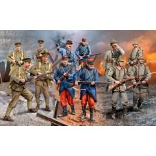 WWI INFANTRY German/British/French (1914) (RV2451) (scara 1/35)