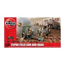 25pdr Field Gun and Quad (AF01305) (scara: 1/76)