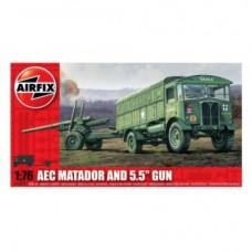 Camion AEC Matador and 5.5 Gun (AF01314) (scara: 1/76)