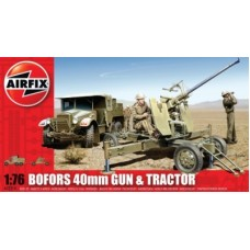 Bofors 40Mm Gun And Tractor (AF02314) (scara: 1/76)