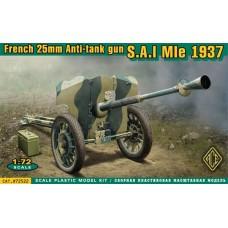 S.A.I Mle 1937 French 25mm anti-tank gun (HP72522) (scara: 1/72)