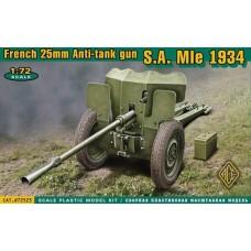 French 25mm Anti-tank gun S.A. MIe 1934 (HP72523) (scara: 1/72)