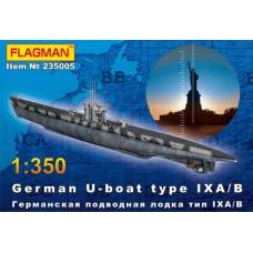 German U-boat type IX A/B (HP235005) (scara: 1/350)