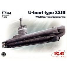 U-Boot type XXIII WWII German submarine (HPS.004) (scara: 1/144)